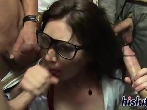 Kinky teacher pleasures dicks in the classroom