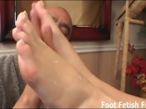 Worship my feet well and I will give you a footjob