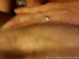 This lustful mature woman is a true blowjob giving whore
