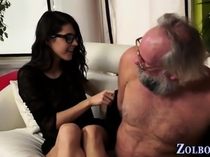 Fetish babe spits out cum