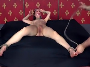 Smalltitted bound sub spanked and restraint