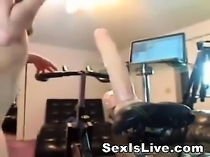 A new sport with bicycle for girls