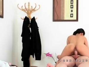 Pussykat the asian massage babe fucked