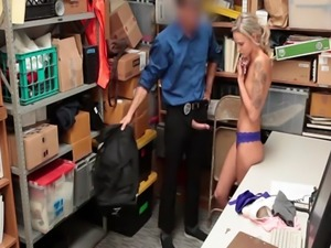 Fucking that shoplifters tight pussy doggystyle
