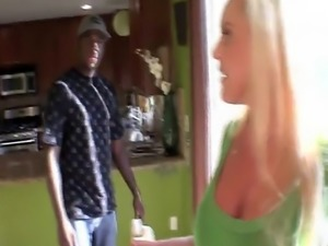 Horny Blonde Mom Alexis Golden Gets Manhandled By Black Studs