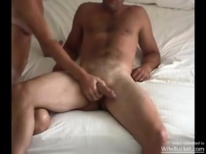 Amateur milf with tan lines riding the hubby