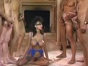 Busty MILF Takes Part In Orgy Blindfolded.CBR