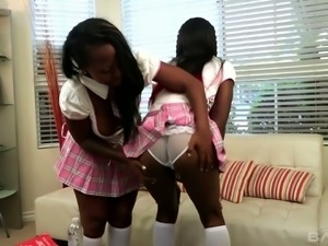 Hot black chick Deziree Monroe is a provocative lesbian babe