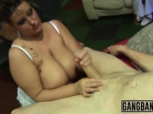 Dirty sluts enjoy getting roughly banged in group
