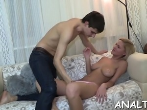 Teen is appreciating dudes pecker with her mouth and slit