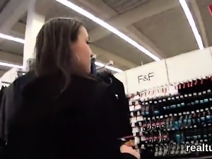 Perfect czech nympho is teased in the supermarket and drille