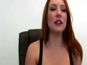 Busty Secretary Sucks and Fucks