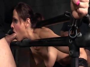 Hardfucked milf whore punished by bdsm