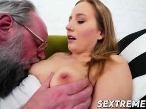 Sexy Kiki likes to fuck horny older man
