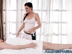 Sizzling masseuse finger