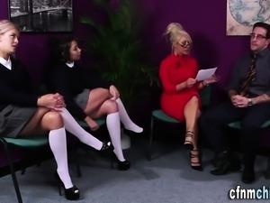 Cfnm milf sucking cock