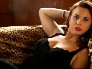Hot brunette cam smoking (JS)