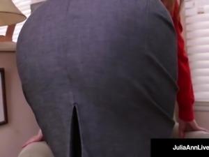 World Famous MILF, Julia Ann In A Sweater & FUCKS Herself!