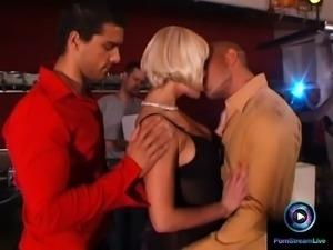 Alissa savoring the moment fucking three guys