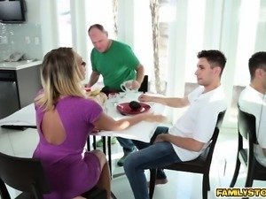 Brad goes hardcore fucking his step mom on top