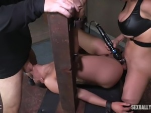 I can bet, that today's victim of bondage legend Matt Williams, brunette babe...