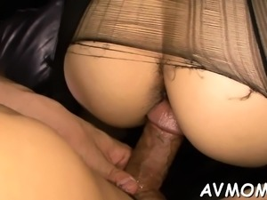 Tight asian mom uses marital-device to make her pussy wet