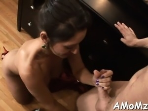 Snatch licking and crazy riding is what this horny mom needs