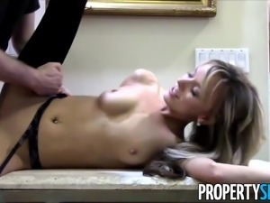 Horny Petite Blond Pristine Edge Fucks in the Kitchen and Backyard