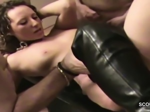 German MILF in Real Amateur Creampie Gangbang Bukkake