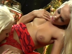 Long haired blondes masturbate passionately with toys to absolute satisfaction