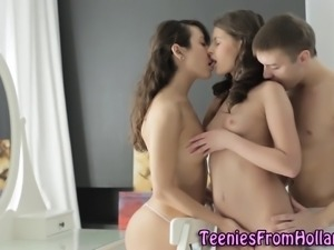 Dutch teens 3way fucked