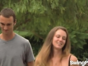 Swingers plays with horny wife Amanda