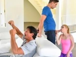 FamilyStrokes - Horny Housewife Fucks Stepson
