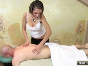 Sensual massage with Rihannon Sky leads to a full-on fucking