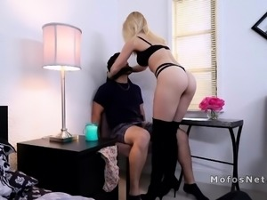 Girlfriend fucks lover in front of cheating bf