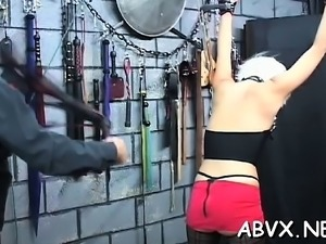 Movie scene with girl enduring bawdy cleft stimulation