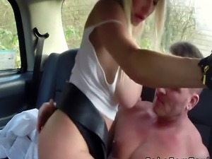 Monster tits cab driver bangs in public