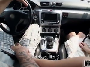 taking a ride with two swingers video starring elisabeth