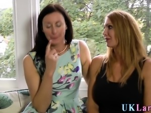 Brit milf and busty lesbo