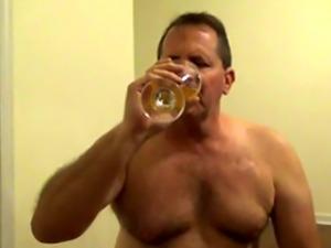 Pervert Tom Pearl Drinks His Piss