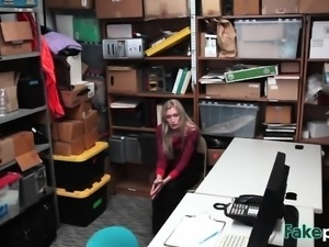 Teen Thief Sierra Nicole Gets Banged In Office