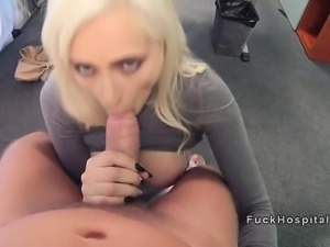 Doctor bangs Italian huge tits blonde