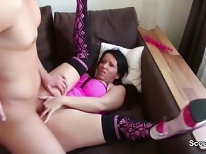 German Young Boy Caught Step Mom and Fuck her Anal