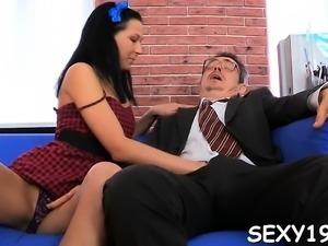 Slutty mature teacher fucks naughty honey senseless