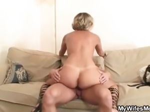 Hot mother in law rides cock