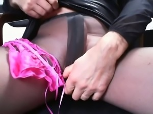 the black pantyhose masturbation