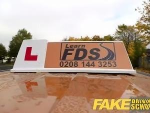 Fake Driving School Stunning blonde gets creampie
