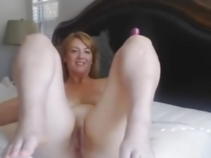 Elegant MILF Masturbate While Husband is out