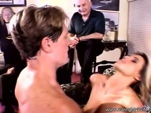 Pretty Blonde Swinger Wife Fucks A Male Pornstar