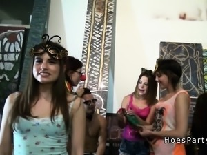 Nasty college sluts bangs at party